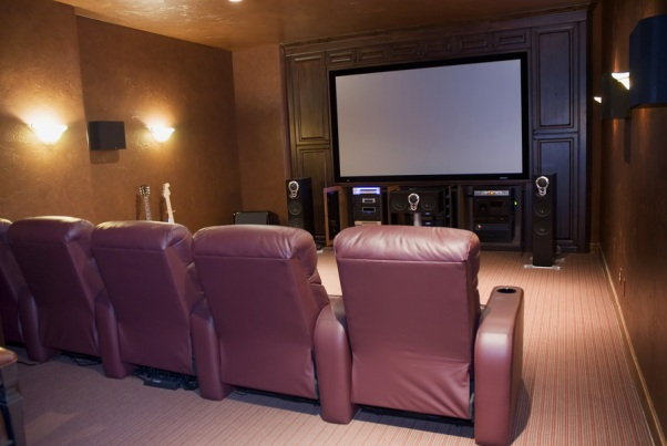 Image Of Media Theater Room In Home